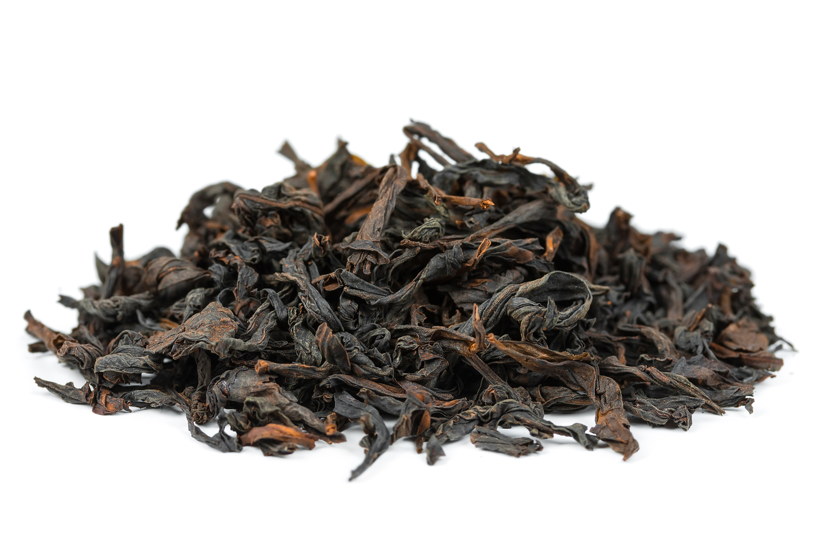 Oolong tea dahongpao isolated on white background ** Note: Shallow depth of field