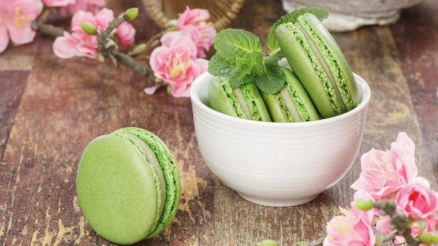 Japan Meets France! Green Tea Madelines, Macaroons and More! Oh la la!